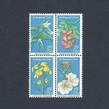 Endangered Flora - Vintage Mint Set of 4 Stamps 39 Years Old!