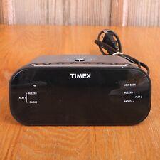 Timex T231Y Alarm Clock Radio Green Display 2 Alarm Radio Buzzer Display Dimmer