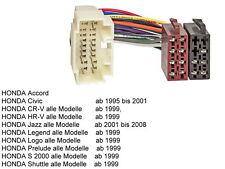 Honda Radioadapterkabel ISO Accord Civic CR-V HR-V Jazz Legend Logo Prelude etc.
