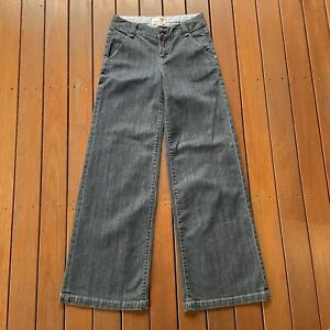 Seven 7 For All Mankind Size 28 Blue Jeans Wide Leg Womens Casual