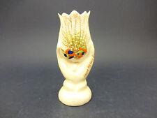 Podmore Esmalte Nacarado China modelo de un jarrón de tulipán: Lucky Heather de Herne Bay