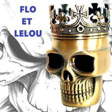 GRINDER - POLINATOR - TÊTE DE MORT SKULL HEAD - 40MM - ALUMINIUM - 3 PARTIES -