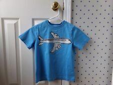 Boys HANNA ANDERSSON Blue AIRPLANE PLANE Travel Shirt T-Shirt Top Size 120 6-7