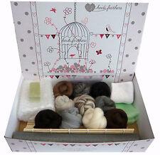 Heidifeathers ® En Caja Starter Wet fieltrar Kit-Natural Lana