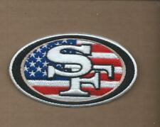 NEW 2 X 3 1/2 INCH SAN FRANCISCO 49ERS USA IRON ON PATCH FREE SHIPPING P1