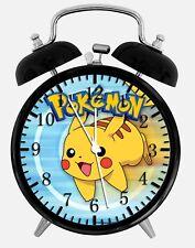 """Pokemon Pikachu Alarm Desk Clock 3.75"""" Home or Office Decor Z44 Nice For Gift"""