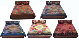 Set of 5 - Wholesale Lot- 5 PC Bedspread Coverlet stunning Quilt Throw Blanket