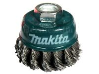"Makita 60mm KNOT CUP WHEEL BRUSH M14 thread Suits all 115mm 4 1/2"" Grinders"