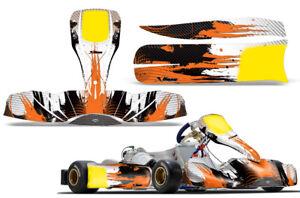 Go-Kart Graphics kit Decal for Tony Kart M6 CarbonX Orange