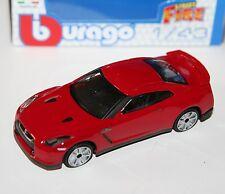 Burago - NISSAN GT-R (Red) 2009 - 'Street Fire' Model Scale 1:43)