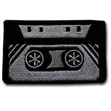 Cassette Tape Record Patch Iron on Sew Badge Music Biker Retro Applique Vest MC