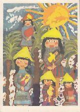 """Postkarte - Kinderzeichnung, Yvonne Legner / DDR-Alltag """"Spielzeug füt vietnames"""