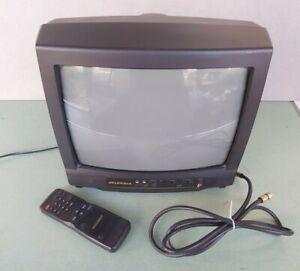 Sylvania SRT 2113 13 inch CRT TV Retro Gaming A/V Inputs Factory Remote