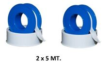Two strips rolls PTFE Teflon 5 meters for weld pipe fittings DFH