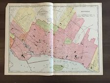 "Large 28"" X 21"" COLOR Rand McNally Map of Montreal (1905)"