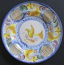 "Talavera Spain Faience Majolica ""Bird"" Plate Centerpiece/ Wall Decor 13.5"""