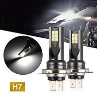 2x H7 Car LED Headlight Kits 50W 14000LM Fog Lights Bulbs 6000K Driving DRL Lamp