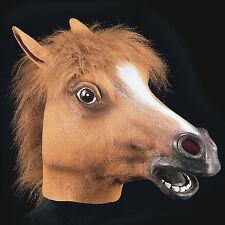 Masque de cheval souple en latex avec crinière [1087] carnaval theatre costume