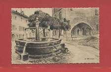 ALBERTVILLE-CONFLANS SAVOIE Dessin de D.RICHIER  La Fontaine et la maison Rouge