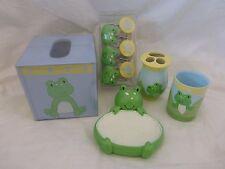 16 pc Tiddliwinks Froggie Bath Accessories Set NIP