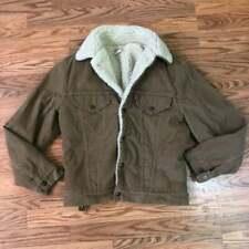 Vintage Levi's Corduroy Shearling Trucker Jacket 38 Medium Light Brown