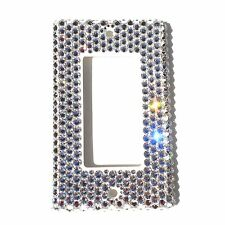 Rhinestone BLING Single Light Switch Cover Plate made with Swarovski Crystals