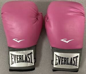 Everlast Pair of Boxing Gloves Pink Pro Style Training Glove Breast Cancer 12oz