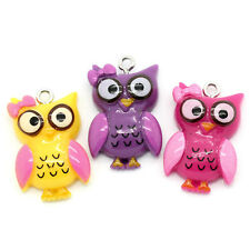 30 MIXED GORGEOUS OWL CHARMS PENDANTS  - FAST FREE SHIPPING