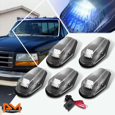 5Pcs Cab Roof Running Light W/Switch Black Blue LED For 80-96 F-Series Pickup