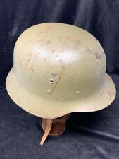 WWII Era Spanish Helmet - German M42 Style with Liner and Chin Strap