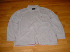 American Eagle Mens Long Sleeve The Eagle Polo Shirt/Sweatshirt Gray Logo XXL