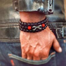 Fashion Men's Matte Red Agate Beads Yoga Reiki Prayer Bead Balance Paw Bracelets