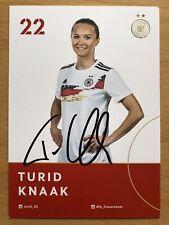 Turid Knaak AK DFB Frauen 2019 Autogrammkarte original signiert