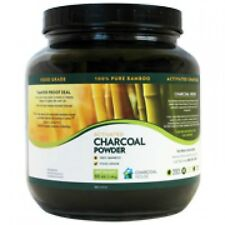 2Qt Glass Jar of Bamboo Activated Charcoal Powder Food Grade Varying Uses