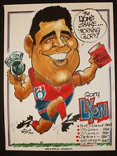 2004 Garry Lyon Weg Original artwork SEN Radio Poster Demons r