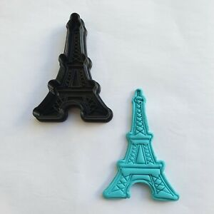 Eiffle tower cookie cutter embosser stamp fondant baking decorate bake customise