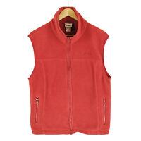 Vintage LL Bean Fleece Vest M Women's Red Polyester Full Zip Jacket Made in USA