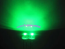 200pcs, 5mm Green Straw Hat LED 5000MCD Wide Angle Water Clear Leds Light New