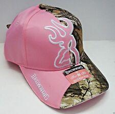 BROWNING hunting  hat NEW baseball cap big buckmark ladies womens pink camo