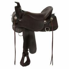 """Tucker Big Bend Saddle 18.5"""" Brown Wide Tree For Larger Riders Model T93 NEW"""