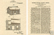 LINCOLN LOGS US Patent Art Print READY TO FRAME! John Lloyd Wright Building toy
