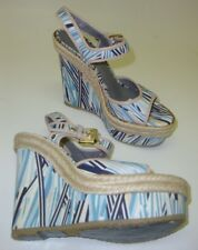 Mulberry Exhibit Women's Pumps / Sandals with Wedge White Colored 37 NEW