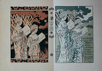 1895 Estampe Lithographie couleur Georges Auriol Art Nouveau Uzanne Bibliophilie