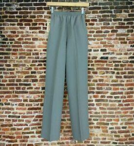 Vintage Women's Slacks Unworn with Original Tags Grey Elastic Waist 80's S Small