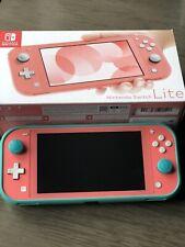 Nintendo Switch Lite Coral, Includes Original Box, Case, And Accessories
