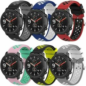 For Samsung/Ticwatch/Huawei/Huami Watch Silicone Band Wrist Strap  Bracelet 22mm