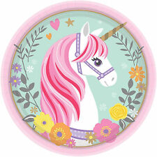 Dishes Paper Official Unicorn Magic For Parties Of Birthday 24 Pz 1402
