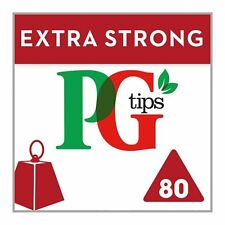 PG Tips Extra Strong 80 Pyramid Tea bags 232G - Sold Worldwide from UK