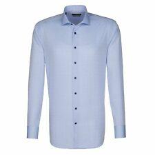Seidensticker Longsleeve Shirt Splendesto Kent Blue Fabric Size 44/110420.13