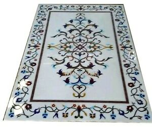 24 x 48 Inches Marble Coffee Table Top with Beautiful Design White Center table